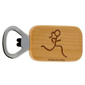 Run Girl Figure Maple Bottle Opener