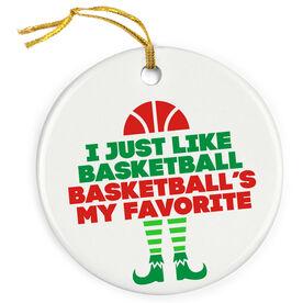 Basketball Porcelain Ornament - Basketball's My Favorite
