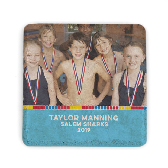 Swimming Stone Coaster - Team Photo with Lane