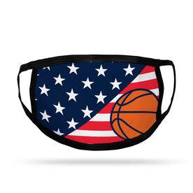 Basketball Kids Face Mask - USA Flag