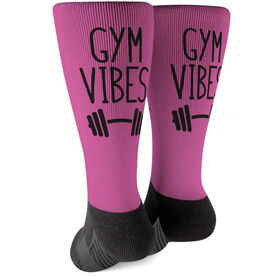 Cross Training Printed Mid-Calf Socks - Gym Vibes