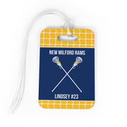 Girls Lacrosse Bag/Luggage Tag - Personalized Team Crossed Sticks