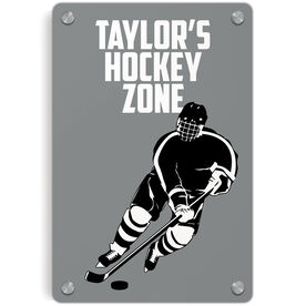 Hockey Metal Wall Art Panel - Personalized Hockey Zone Guy
