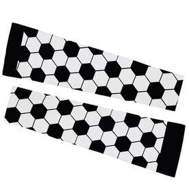 Soccer Printed Arm Sleeves - Soccer Ball Pattern