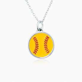 My Game Softball Pendant Necklace