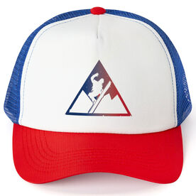 Snowboarding Trucker Hat Triangle
