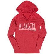 Women's Lacrosse Lightweight Performance Hoodie #LAXGIRL