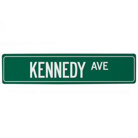 """Personalized Aluminum Room Sign - Custom Name Ave (4""""x18"""")"""