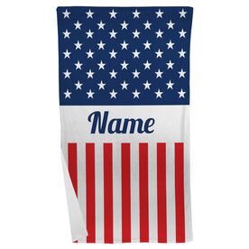 Personalized Beach Towel - A Flag For You