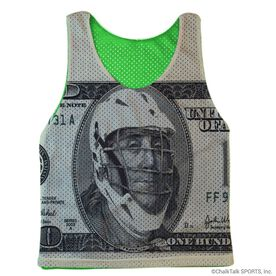 Guys Lacrosse Pinnie - Ben Laxer (Green Interior)