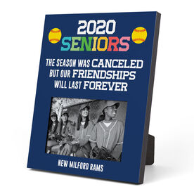 Softball Photo Frame - 2020 Season Was Canceled But Friendships Last Forever