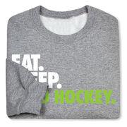 Field Hockey Crew Neck Sweatshirt - Eat Sleep Field Hockey