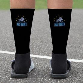 Figure Skating Printed Mid-Calf Socks - Your Logo