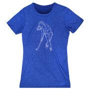 Field Hockey Women's Everyday Tee - Field Hockey Player Sketch