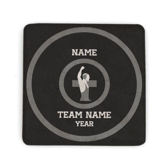 Wrestling Stone Coaster - Personalized Team