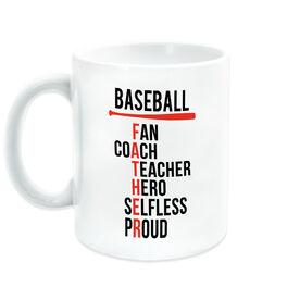 Baseball Coffee Mug - Baseball Father Words