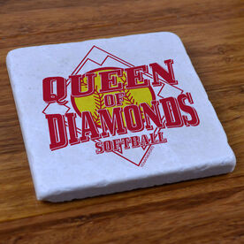 Queen of Diamonds - Stone Coaster