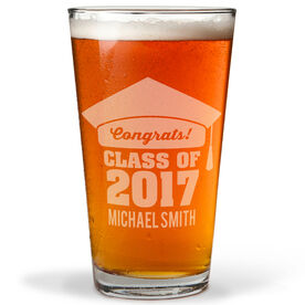 Personalized 16 oz. Beer Pint Glass - My Graduation