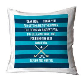 Field Hockey Throw Pillow - Dear Mom Heart