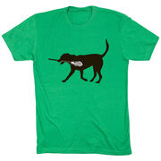 Guys Lacrosse Short Sleeve T-Shirt - Max The Lax Dog