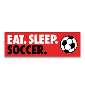 "Soccer 12.5"" X 4"" Removable Wall Tile - Eat Sleep Soccer"