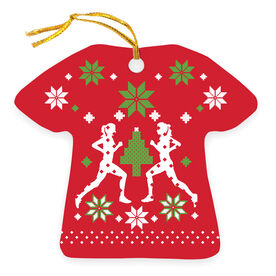 Running Ornament - Ugly Christmas Sweater (Female)