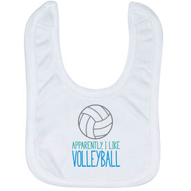 Volleyball Baby Bib - I'm Told I Like Volleyball
