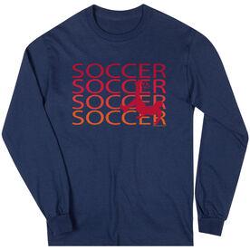 Soccer Tshirt Long Sleeve Soccer Fade