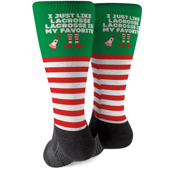 Guys Lacrosse Printed Mid-Calf Socks - Lacrosse's My Favorite