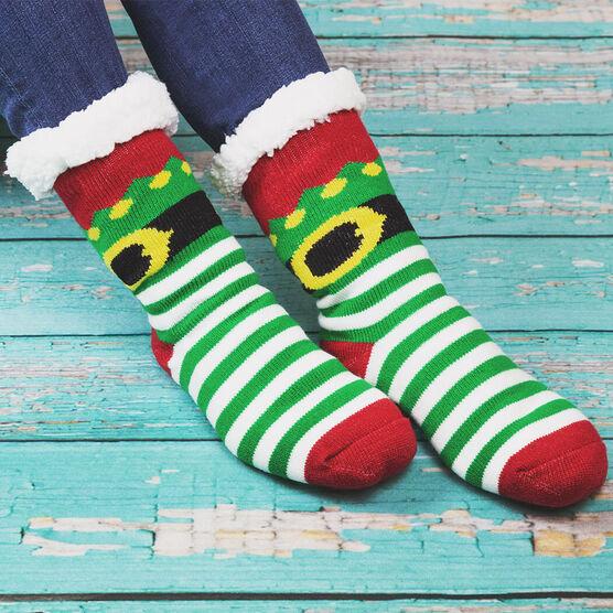 Elf Slipper Socks with Sherpa Lining