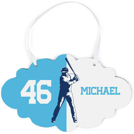 Baseball Cloud Sign - Personalized Batter Silhouette