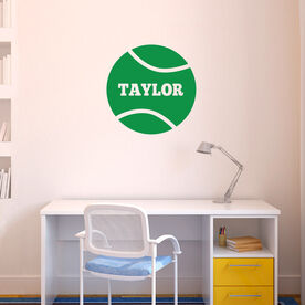 Tennis Removable ChalkTalkGraphix Wall Decal Personalized Tennis Ball