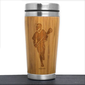 Bamboo Travel Tumbler Lacrosse Male Player