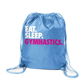 Gymnastics Sport Pack Cinch Sack Eat. Sleep. Gymnastics.