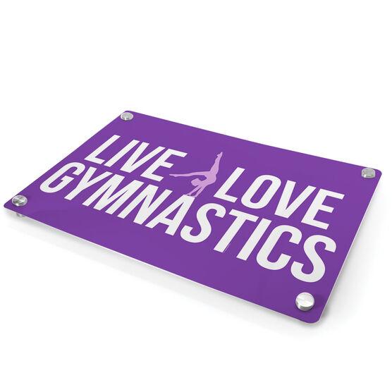 Gymnastics Metal Wall Art Panel - Live Love Gymnastics