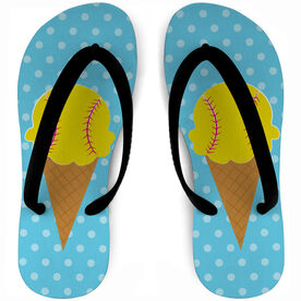 Softball Flip Flops Ice Cream Scoop
