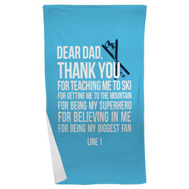 Skiing Beach Towel Dear Dad