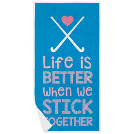 Field Hockey Premium Beach Towel - Stick Together