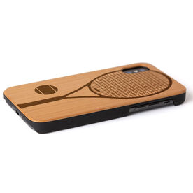 Tennis Engraved Wood IPhone® Case - Tennis Racket and Ball
