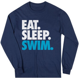 Swimming T-Shirt Long Sleeve Eat. Sleep. Swim.