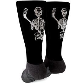 Hockey Printed Mid-Calf Socks - Skeleton