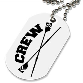 Crew Crossed Oars Printed Dog Tag Necklace