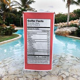Golf Premium Beach Towel - Golfer Facts