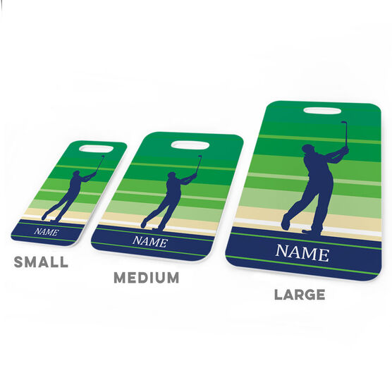 Golf Bag/Luggage Tag - Personalized Male Golfer
