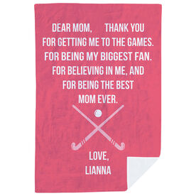 Field Hockey Premium Blanket - Dear Mom Heart