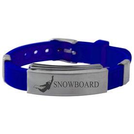 Snowboarding Silicone Bracelet Snowboard