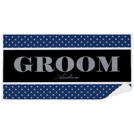 Personalized Premium Beach Towel - Groom Classic