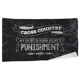 Cross Country Beach Towel Chalkboard My Sport Is Your Sport's Punishment