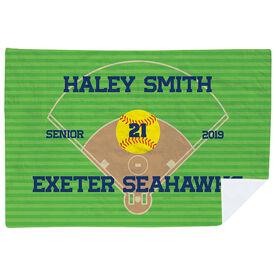 Softball Premium Blanket - Personalized Softball Senior