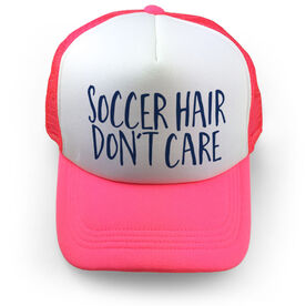 Soccer Trucker Hat - Soccer Hair Don't Care
